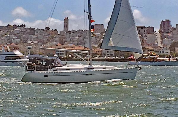 Beneteau 361 Under sail