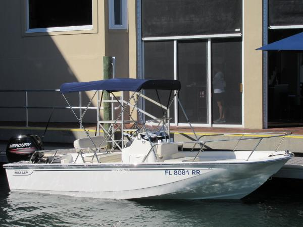 Boston Whaler 17 Montauk Starboard Side View