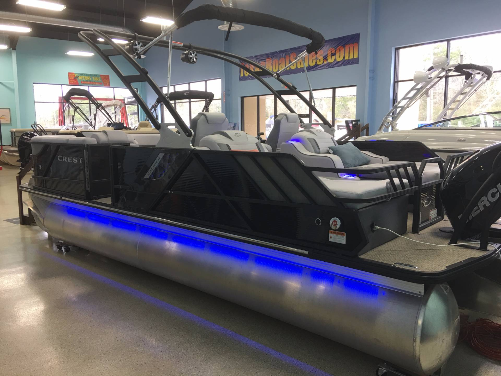 Pontoon boats with bathroom for sale - Crest Pontoon Boats Caliber 230 Slr2 Pontoon Boats For Sale Boats Com