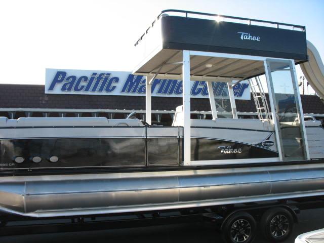 Avalon Tahoe Platinum CR Funship 25 Tri-Toon w/ 200HP Mercury