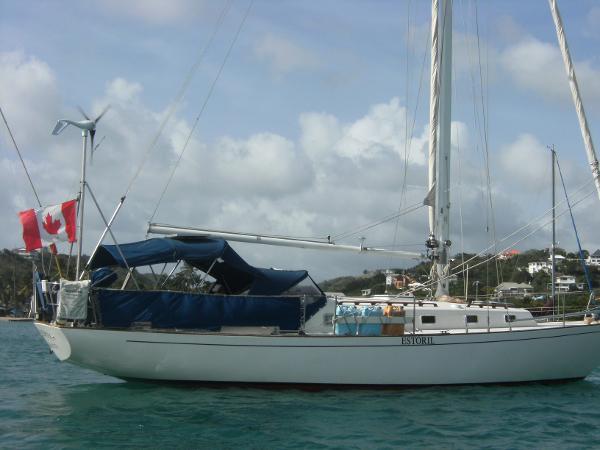 Alberg 37 Alberg 37 - Starboard Side Profile