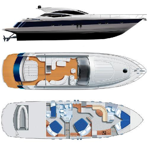 Pershing 62 Manufacturer Provided Image: Plans