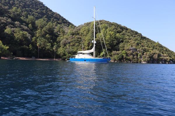 Custom Mural Yacht Built 28 meter MotorSailer