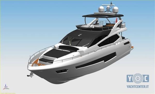 Sunseeker 75 Yacht 75 Yacht 3d concept 1