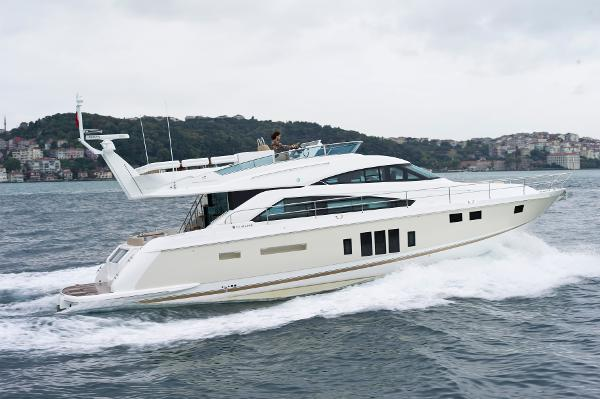 Fairline Squadron 58 (1/4 SHARE) Brochure Shot
