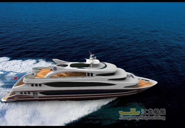 45m yacht side view