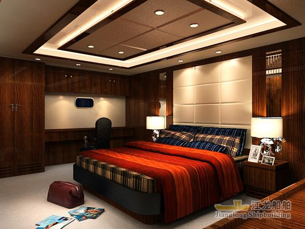 45m yacht  captain room