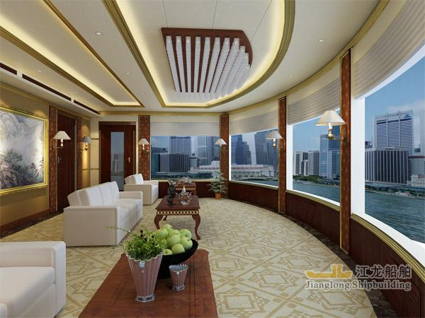 45m yacht front rest room