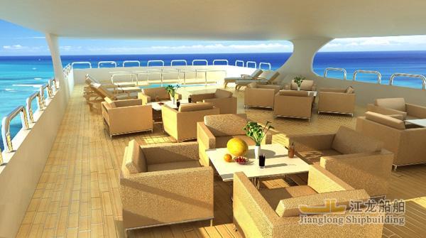 45m yacht top sundeck