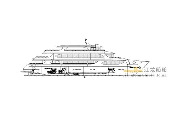 45m yacht GA drawing 1