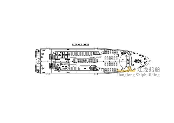 45m yacht GA drawing 3