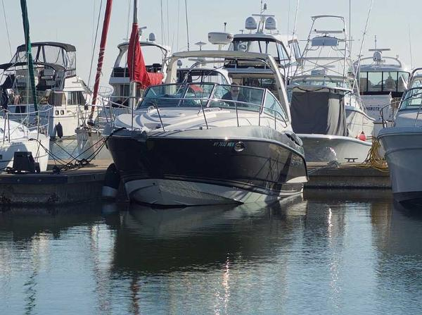 Monterey 300 Sport Yacht Front View at Dock