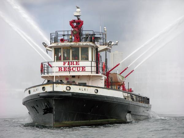 Custom Steel Hull (Retired) Fire Boat