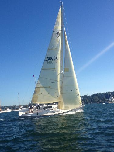S&S, Sparkman & Stephens, Daysailor BABE 30 SS30 Under Sail in Newport