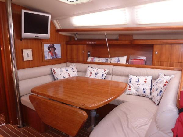Main saloon with seating area to starboard