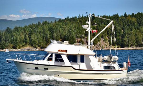 Pacific Seacraft Trawler Underway!