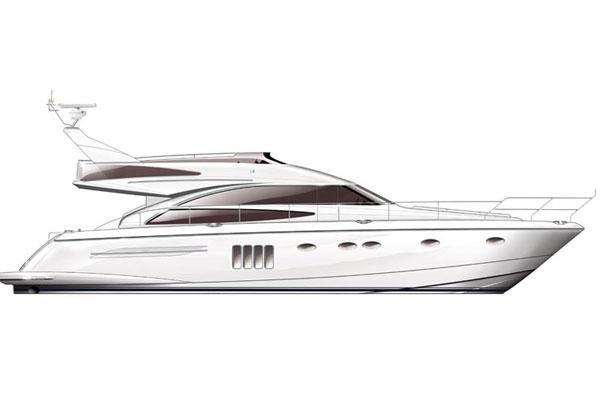 Princess 62 Flybridge Manufacturer Provided Image: 62 Flybridge