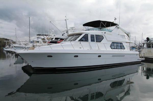 Compass Yachts 55 Pilothouse Dockside Exterior - Profile