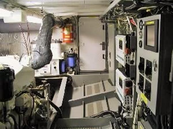 Spacious Well Organized Engine Room