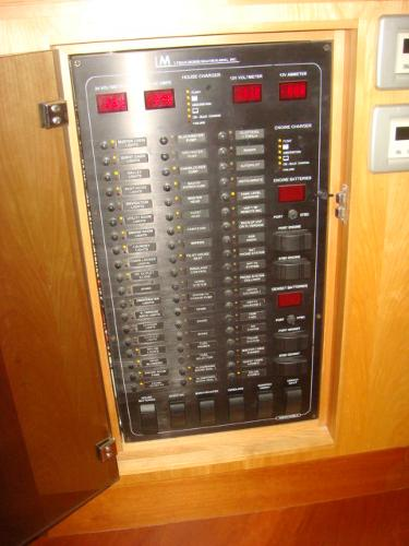 67' Lyman-Morse salon electrical panel