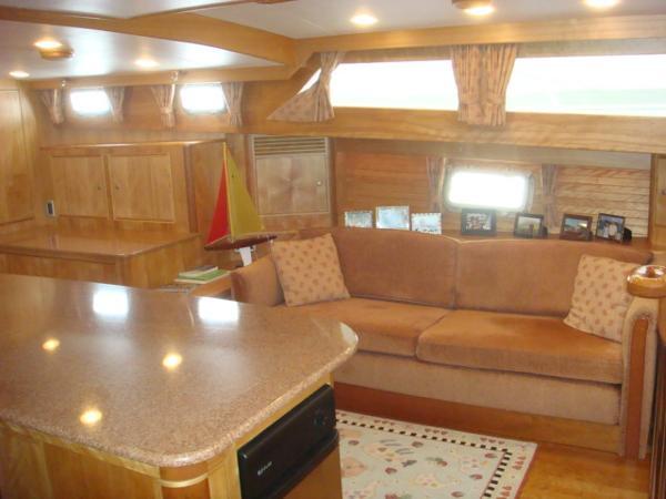 67' Lyman-Morse salon starboard
