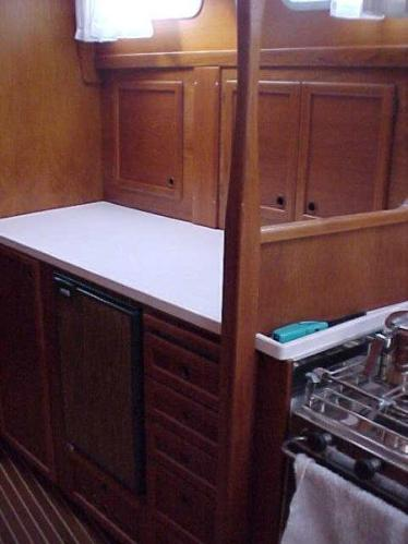 More work space in galley
