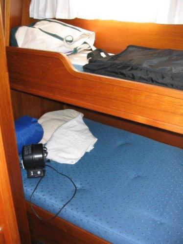 Guest cabin with over and under bunks