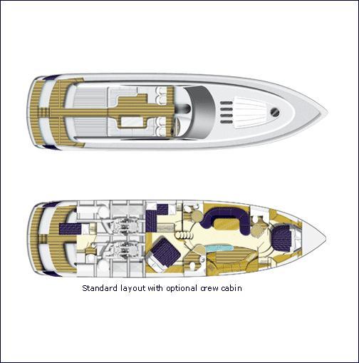 Princess V65 Manufacturer Provided Image: Floor Plans