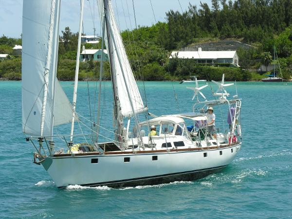 Adams 45 Steel Ocean CC CB Cutter Osprey under sail