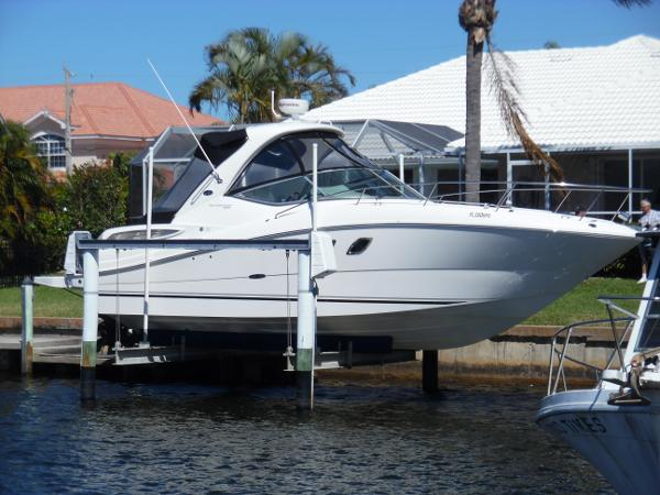 Sea Ray 330 Sundancer On Lift Starboard Side