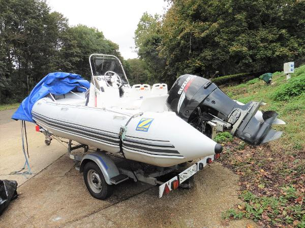 Zodiac Pro 550 Rib On Trailer