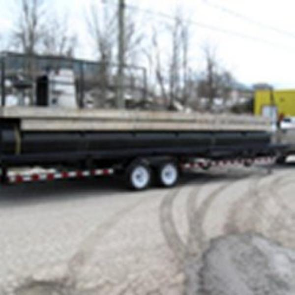 Self Propelled Pontoon Barge with 50hp Mercury outboard