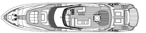 Sunseeker 115 Sport Yacht Flybridge Layout Plan