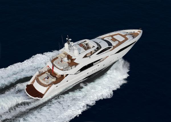 Sunseeker 130 Sport Yacht Aerial Shot