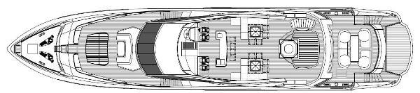 Sunseeker 130 Sport Yacht Exterior Layout Plan