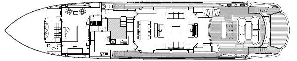 Sunseeker 130 Sport Yacht Main Deck Layout Plan
