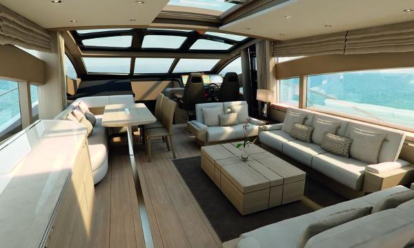 Sunseeker 80 Sport Yacht  Saloon