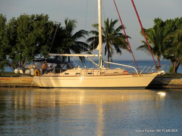 Island Packet 380 Sunrise on Plan Sea, Biscayne Bay, FL