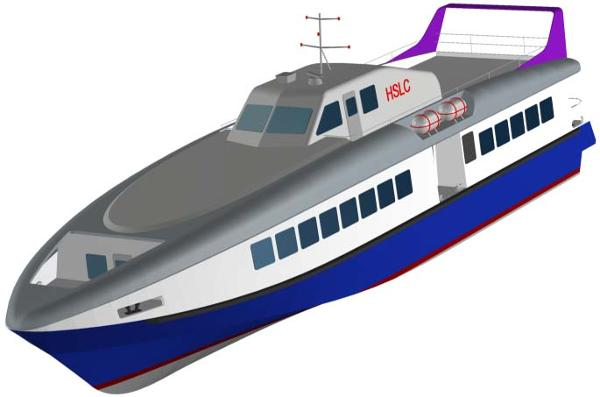 Passemger Boat Ferr Project Front view