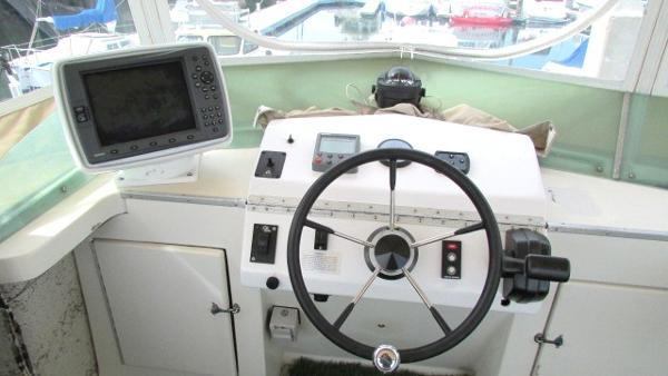 Helm with Garmin 2010C in a pod