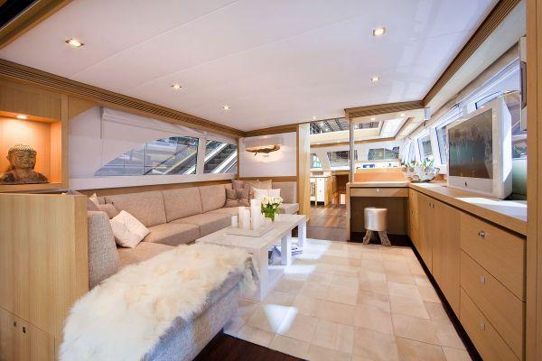 Wim van der Valk 23m Saloon from Aft Deck