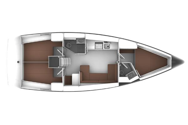 Bavaria Cruiser 41 Lower Deck Layout Plan