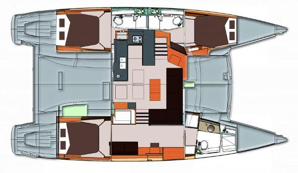 Fountaine Pajot Helia 44 3 Cabin Layout Plan