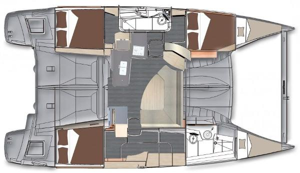Fountaine Pajot Lipari 41 3 Cabin Layout Plan