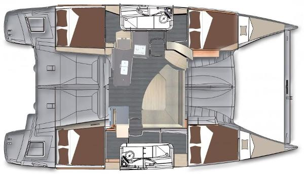 Fountaine Pajot Lipari 41 4 Cabin Layout Plan