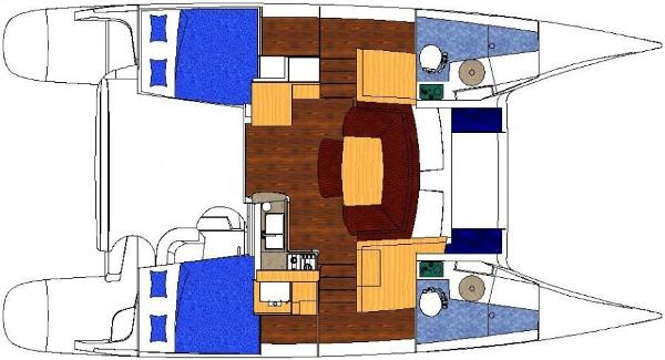 Fountaine Pajot Mahe 36 Evolution 2 Cabin Layout Plan