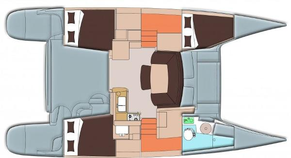 Fountaine Pajot Mahe 36 Evolution 3 Cabin Layout Plan