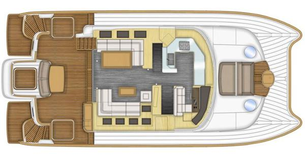 Fountaine Pajot Queensland 55 Upper Deck Layout Plan