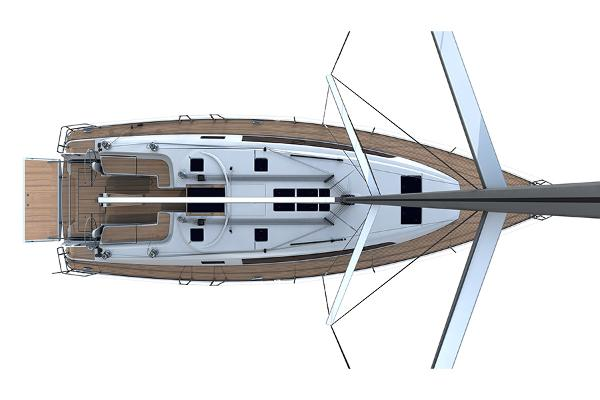 Bavaria Cruiser 46 Upper Deck Layout Plan
