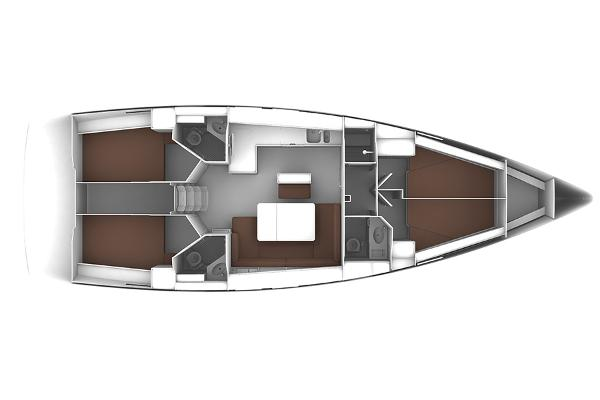 Bavaria Cruiser 46 Lower Deck Layout Plan